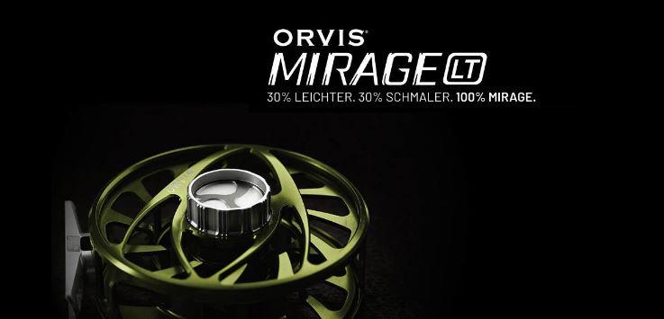 Die neue Mirage LT Fliegenrolle von Orvis. 30% leichter, 30% schmaler aber 100% Mirage.