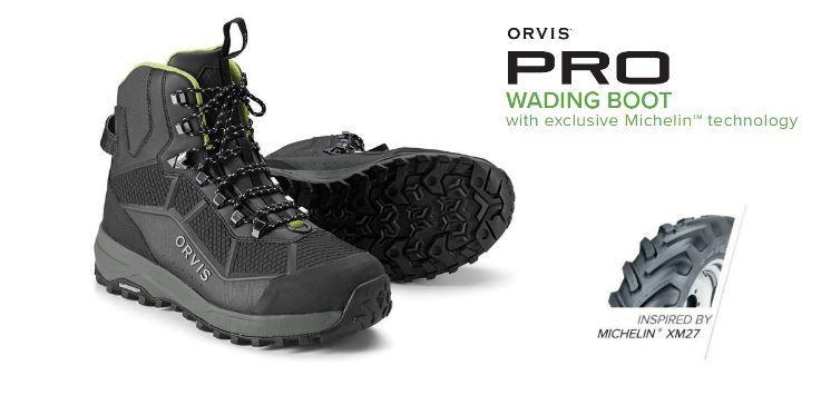 Der neue Orvis Pro Watschuh mit Michelin Technologie.