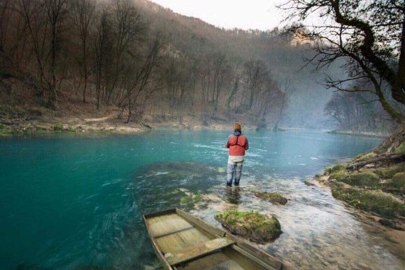 Fliegenfischen Una Bosnien Huchen
