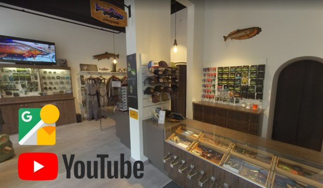 Virtueller Rundgang und Video bei Klejch Fly Fishing & Outdoor in Wien.