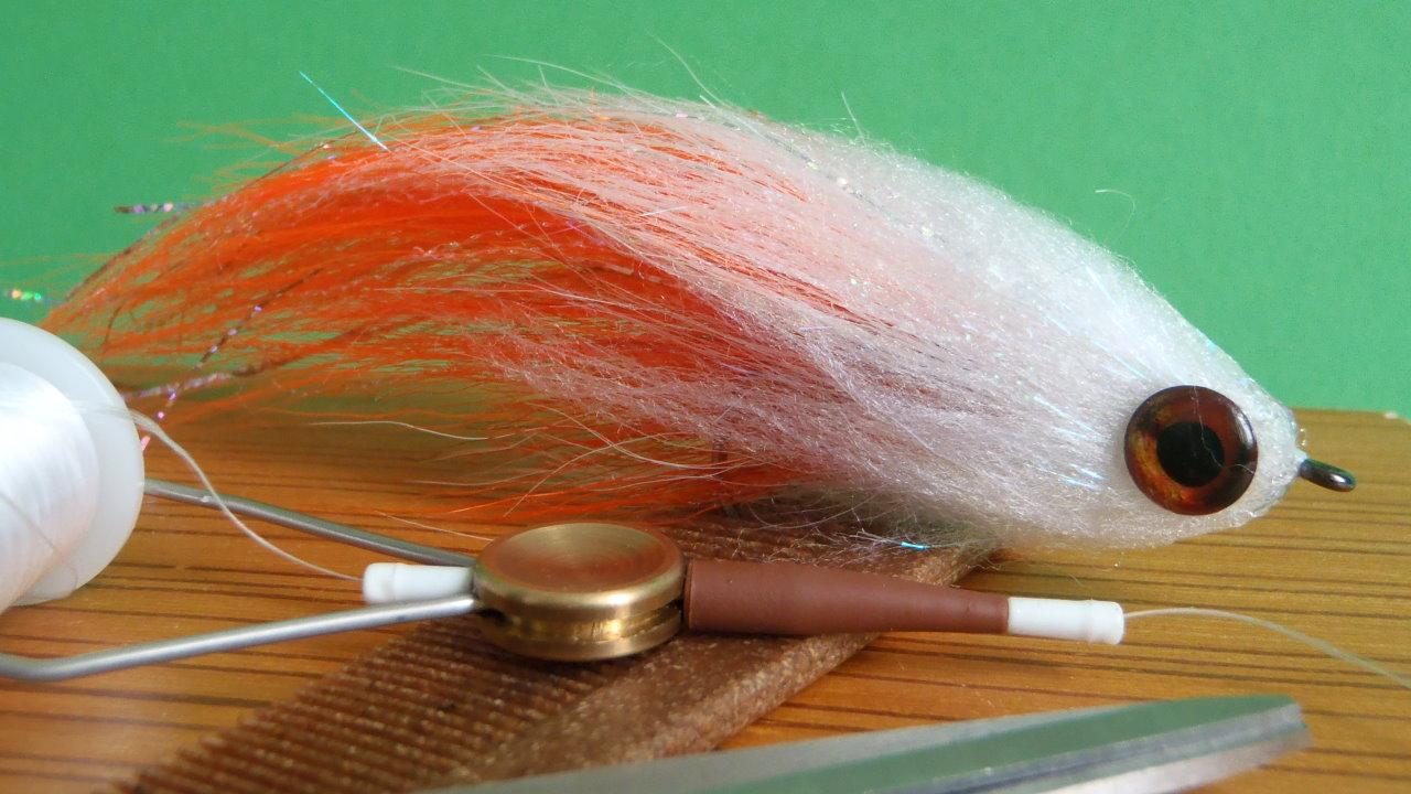Bindeanleitung Orange & White Deceiver Hecht Streamer