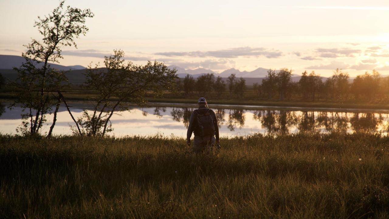 Fliegenfischen beim Guided Trip in Schweden.